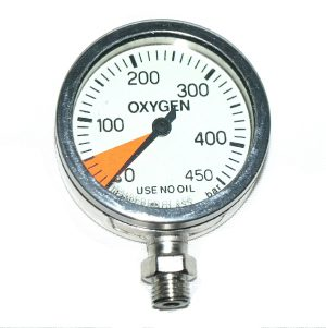 SPG 300 bar, oxygen clean, 63 mm